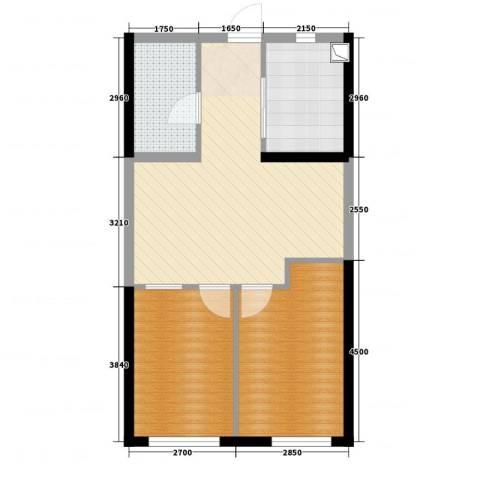 中央学府2室2厅1卫1厨66.00㎡户型图