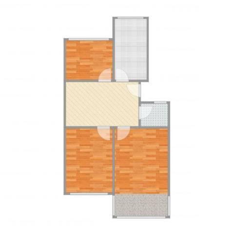 鼓楼新村3室1厅1卫1厨71.00㎡户型图