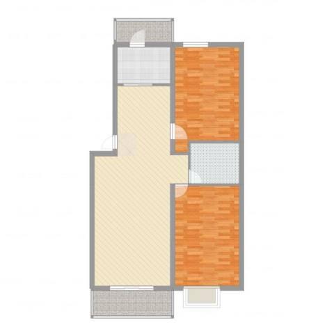 蜜糖小镇2室2厅1卫1厨108.00㎡户型图