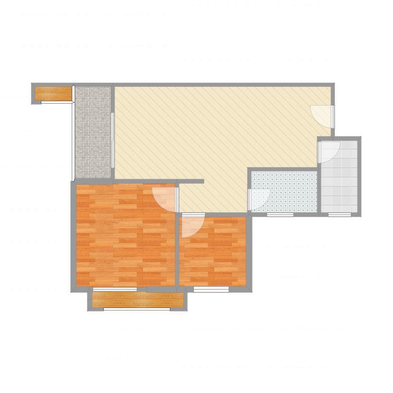 泉州中骏四季康城二期2房2厅1卫60m²