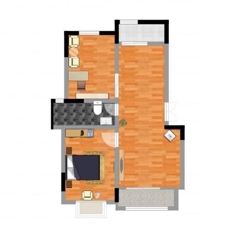 山南小镇2室2厅1卫1厨78.00㎡户型图