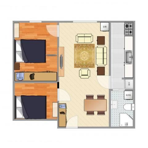 上庄馨瑞嘉园2室1厅1卫1厨63.00㎡户型图