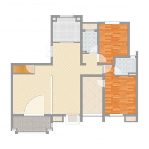 优山美地别墅2室2厅2卫1厨132.00㎡户型图