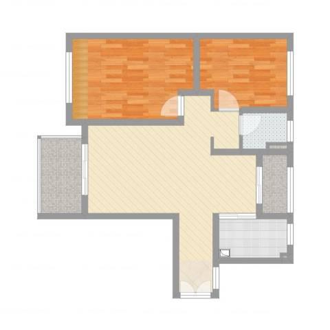 中南世纪城2室2厅1卫1厨81.00㎡户型图