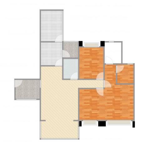 英郦庄园・曼城2室1厅1卫1厨109.00㎡户型图