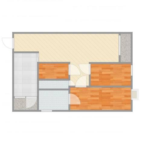 幸福楼B8013室1厅2卫1厨56.00㎡户型图