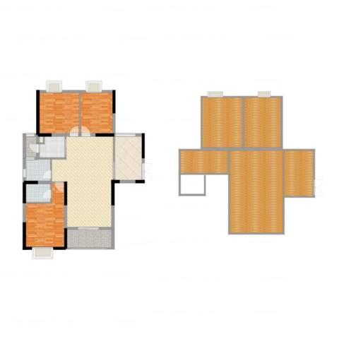 红海名仕公馆3室2厅2卫1厨238.00㎡户型图
