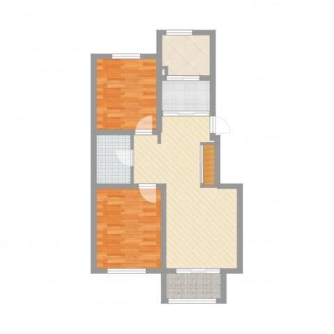 万亿皇冠假日2室2厅1卫1厨72.00㎡户型图