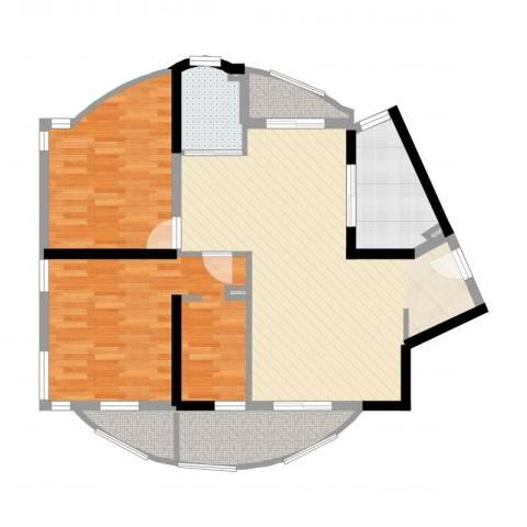 大华锦绣华城公园新纪2室2厅1卫1厨93.00㎡户型图