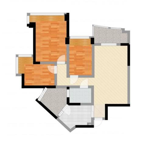 雅居乐国际花园1室2厅1卫1厨92.00㎡户型图
