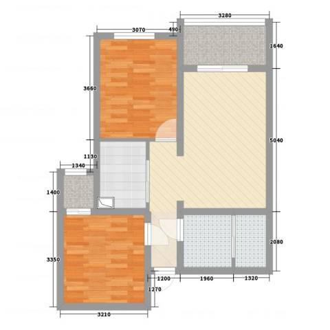 和平里东街9号院2室4厅1卫1厨73.00㎡户型图