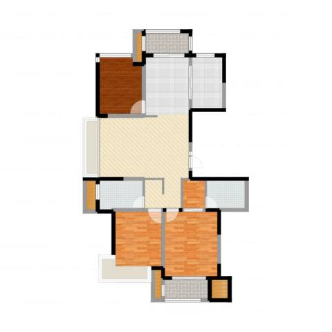 建东・悦海湾3室2厅2卫1厨134.00㎡户型图