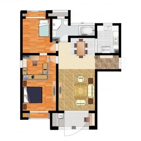 尼德兰花园二期2室1厅1卫1厨111.00㎡户型图