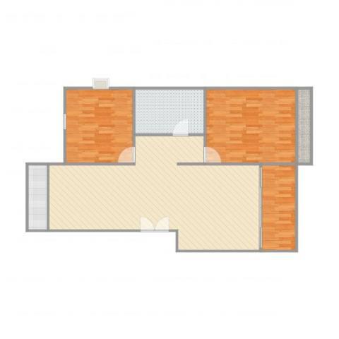 开元北小区3室1厅1卫1厨113.00㎡户型图