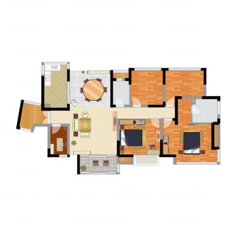 恒基水漾花城5室1厅5卫3厨106.00㎡户型图