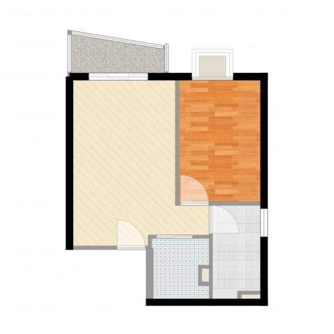 金世纪嘉园1室2厅1卫1厨57.00㎡户型图