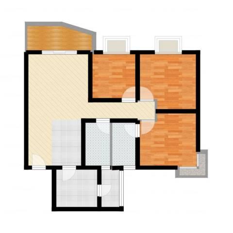 旭景碧泽园3室2厅2卫2厨94.00㎡户型图