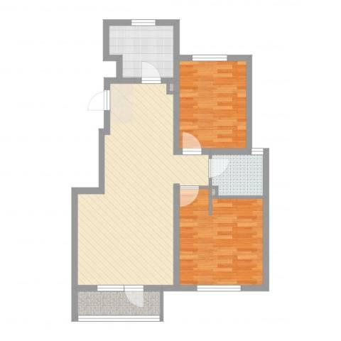 世茂・萨拉曼卡2室2厅1卫1厨77.00㎡户型图