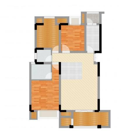 天盈首原2室2厅2卫1厨110.00㎡户型图