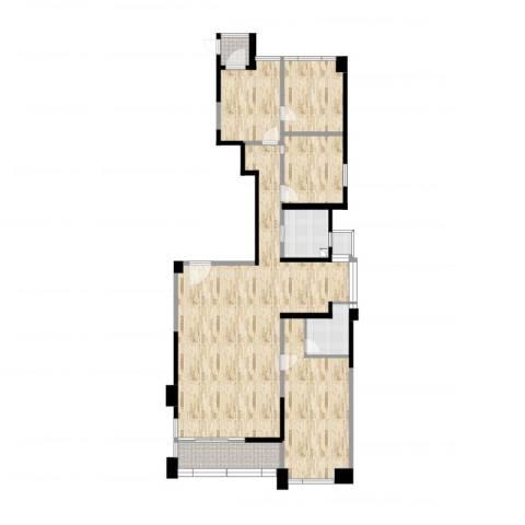御翠天峯4室2厅2卫1厨190.00㎡户型图