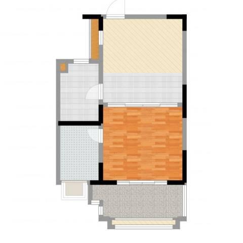 新虹桥首府1室2厅1卫1厨81.00㎡户型图