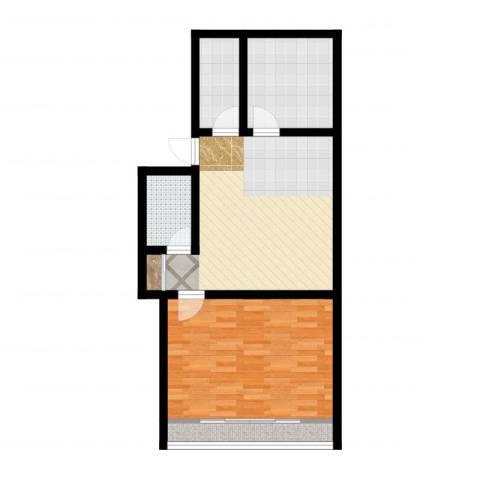 灯塔新村1室2厅1卫2厨66.00㎡户型图