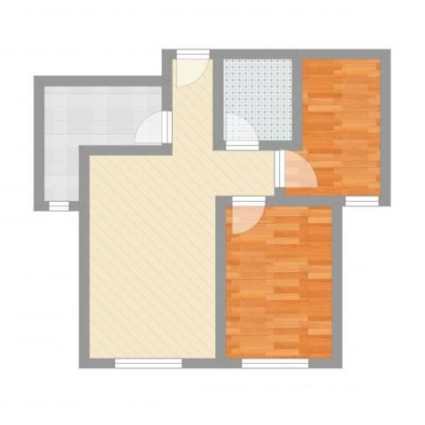 御龙湾742室2厅1卫1厨55.00㎡户型图