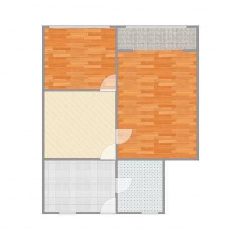 国和一村2室1厅1卫1厨73.00㎡户型图