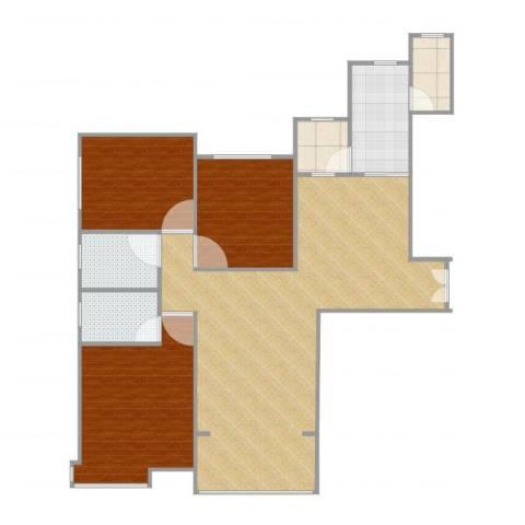 恒大金碧天下1502室2厅3卫2厨138.00㎡户型图