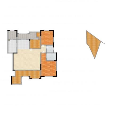 绿地香树花城2室2厅2卫1厨281.00㎡户型图