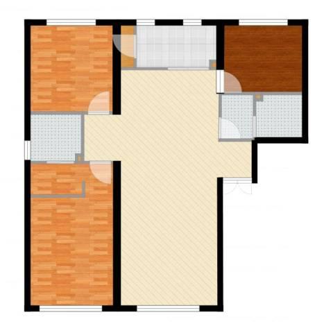 水木兰亭三期3室1厅5卫3厨134.00㎡户型图