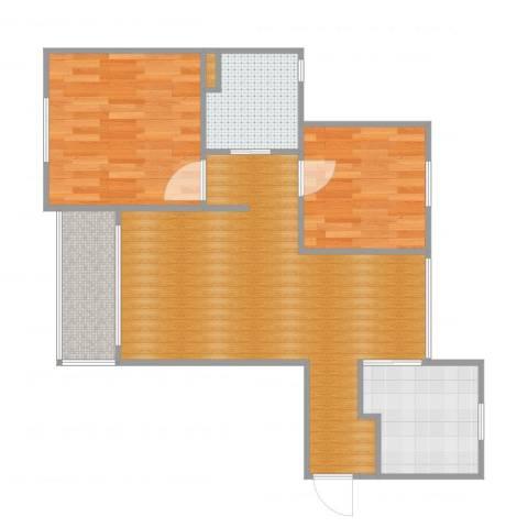 海尚乐苑2室2厅1卫1厨72.00㎡户型图