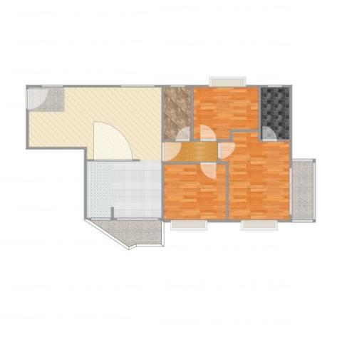 粤垦路馨晖园3室1厅3卫1厨98.00㎡户型图