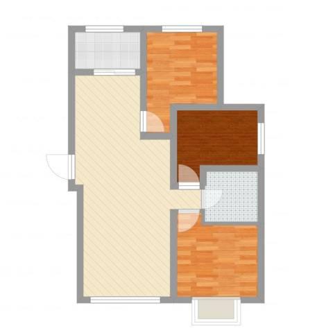 御龙湾1123室2厅1卫1厨72.00㎡户型图