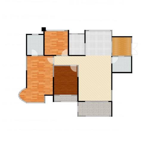 嘉福尚江尊品3室2厅2卫1厨136.00㎡户型图