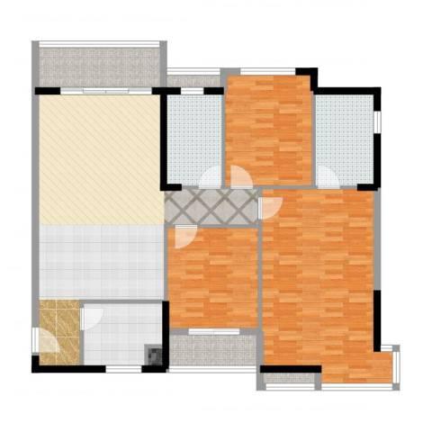 美林・银谷3室2厅2卫1厨149.00㎡户型图