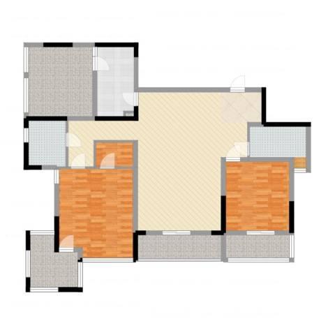 万科华庭2室2厅2卫1厨165.00㎡户型图