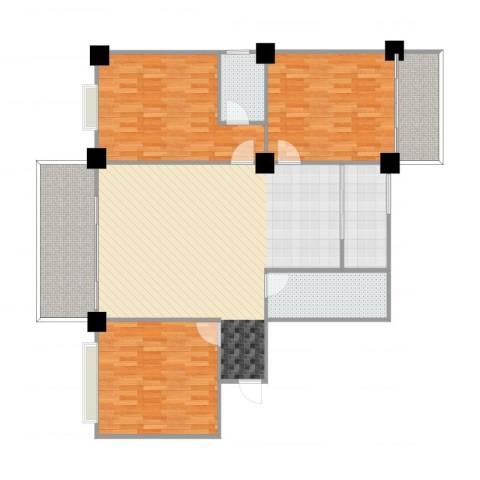 吉祥小区3室1厅2卫1厨143.00㎡户型图