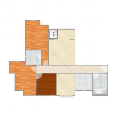 徐州鼓楼广场3室2厅2卫1厨146.00㎡户型图