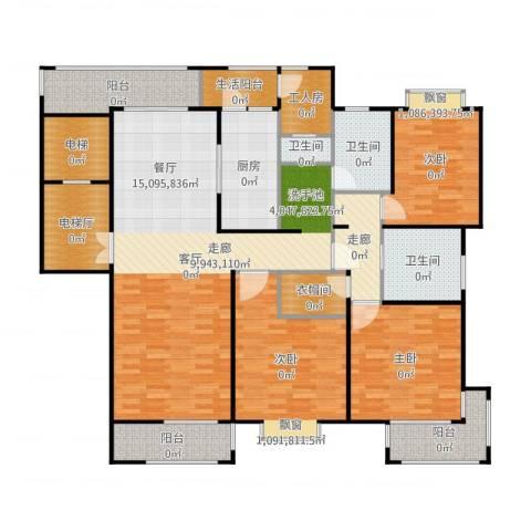 锦绣逸庭3室1厅3卫1厨201.00㎡户型图