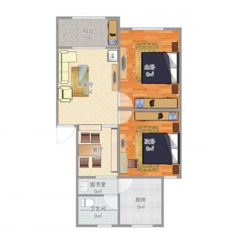 梅川馨苑2室4厅1卫1厨75.00㎡户型图