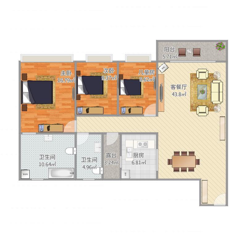 金域蓝湾1502房118方