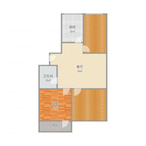 南辛北街宿舍1室1厅1卫1厨99.00㎡户型图