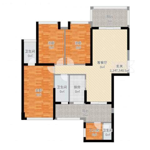 嘉宏世纪豪庭3室2厅3卫1厨138.00㎡户型图