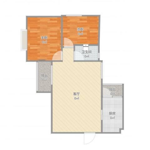 华建大厦2室1厅1卫1厨68.00㎡户型图