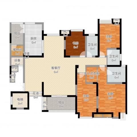 海门东恒盛国际公馆4室2厅3卫1厨207.00㎡户型图