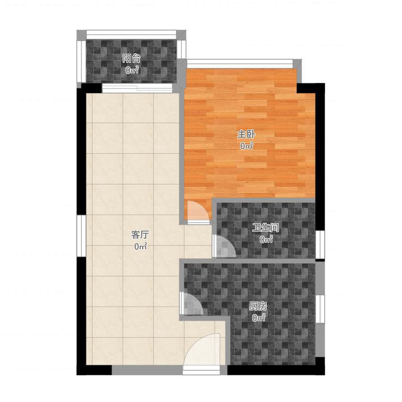 龙腾嘉园户型2室1卫-201603181333