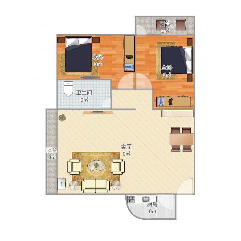 6区-宝河大厦69平2房
