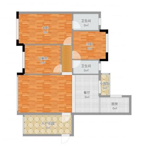 壮龙・幸福新城3室1厅2卫1厨142.00㎡户型图