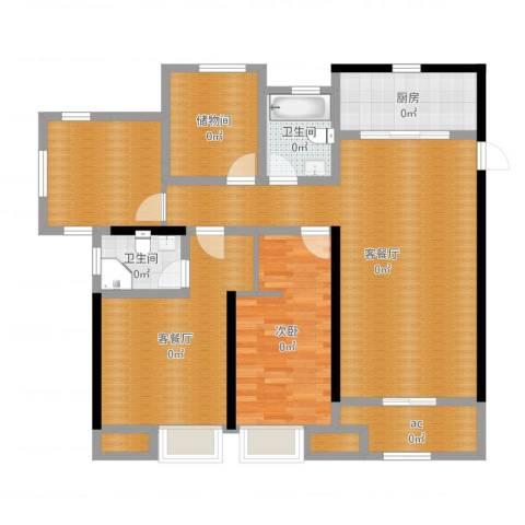 海亮香榭里1室4厅2卫1厨126.00㎡户型图